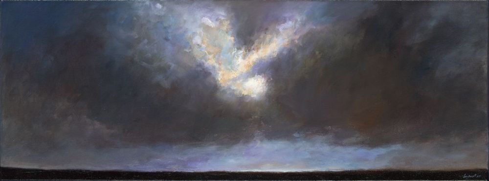 Sunset II, oil / canvas, 2012, 30 x 80 cm, Sold