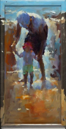 Sunny girl, oil / canvas, 2013, 120 x 50 cm, Sold