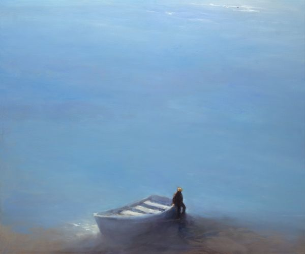Ferryman, oil / canvas, 2013, 100 x 120 cm, Option