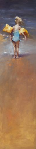 Yellow wings, oil / canvas, 2013, 120 x 30 cm, Sold