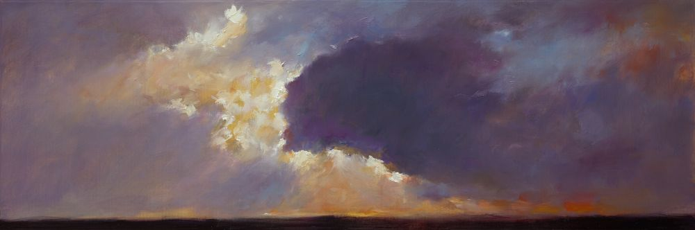 Sunset, oil / canvas, 2013, 40 x 120 cm, Sold