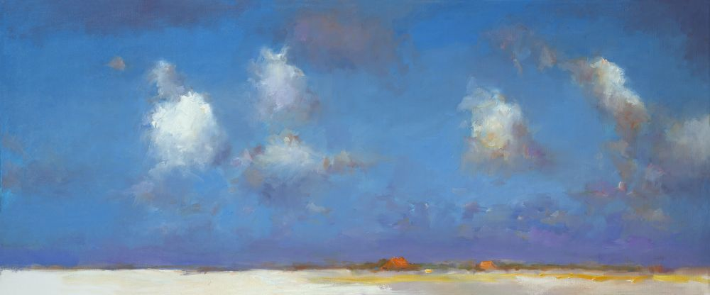 Summerlandscape, oil / canvas, 2013, 50 x 120 cm, Sold