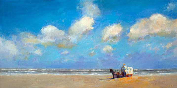Beachcart, oil / canvas, 2014, 70 x 140 cm, Sold