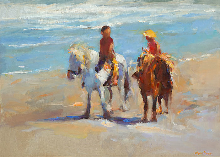 Seachildren  III, oil / canvas, 2014, 50 x 70 cm, Sold