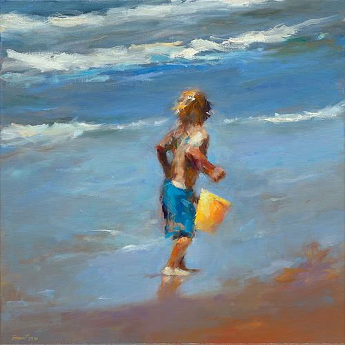yellow bucket, oil / canvas, 2014, 50 x 50 cm, Sold