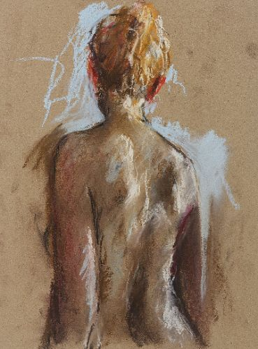 Nude, Pastel, 2006, 39 x 25 cm, Sold