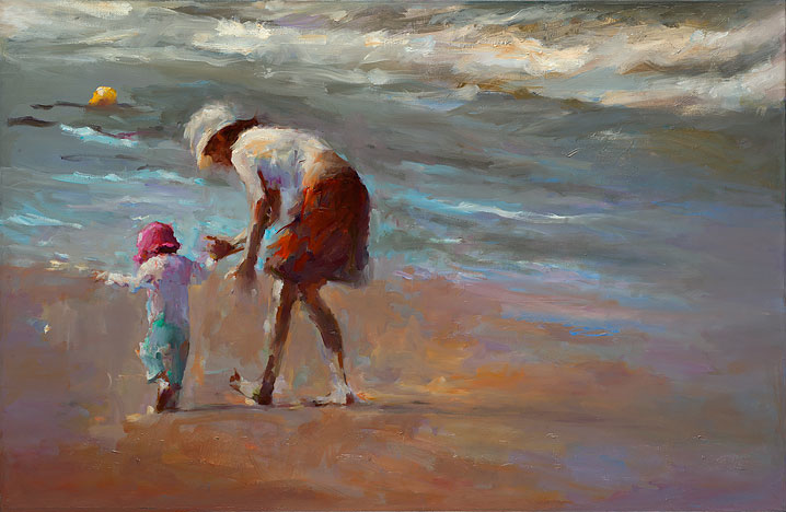 Learn to walk, oil / canvas, 2014, 75 x 115 cm, Sold