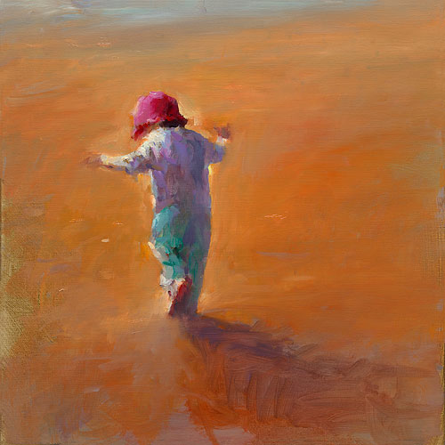Red hat, oil / canvas, 2015, 50 x 50 cm, € 3.000,-