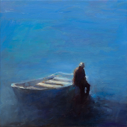 Ferryman III, oil / canvas, 2014, 40 x 40 cm, Sold