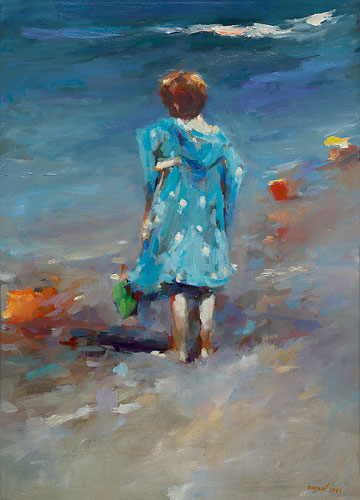 Blue bathrobe, oil / canvas, 2014, 70 x 50 cm, € 3.250,-