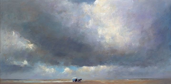 Beachcart, oil / canvasl, 2015, 60 x 120 cm, Sold