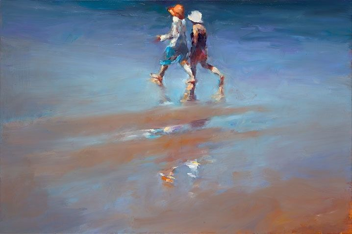 Seaside visitors II, oil / canvasl, 2015, 80 x 120 cm, Sold