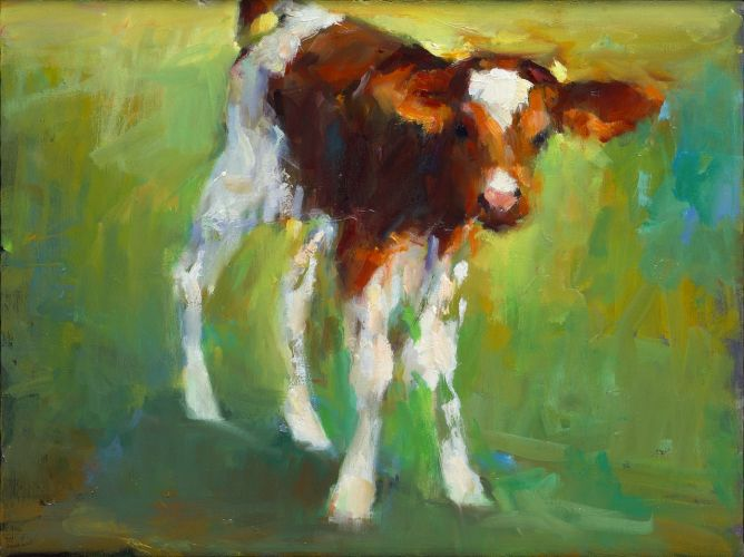 Calf, oil / canvas, 2015, 30 x 40 cm, € 2.250,-