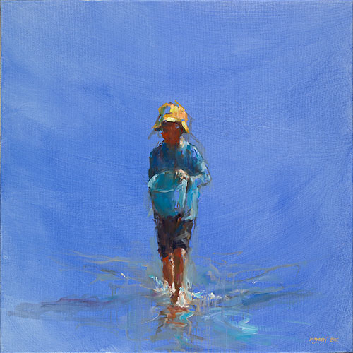 Watercarrier, oil / canvas, 2015, 80 x 80 cm, € 4.500,-