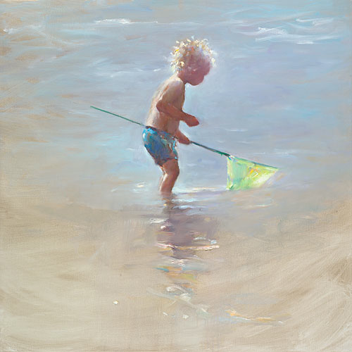 Little fisherman, oil / canvas, 2015, 80 x 80 cm, Sold