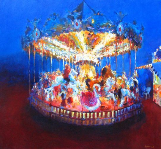 Merry-go-round, Oil / canvas, 2006, 150 x 150 cm, Sold
