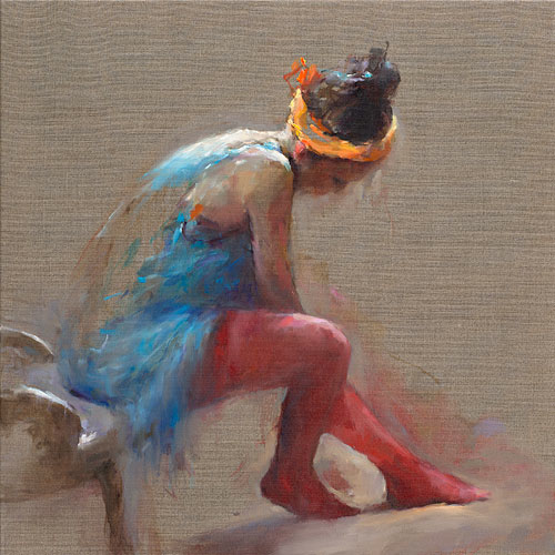 Red socks, oil / canvasl, 2015, 80 x 80 cm, Sold