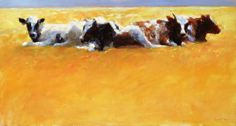 Cows II, Oil / canvas, 2006, 70 x 130 cm, Sold