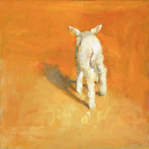 Lamb, Oil / canvas, 2006, 40 x 40 cm, Sold