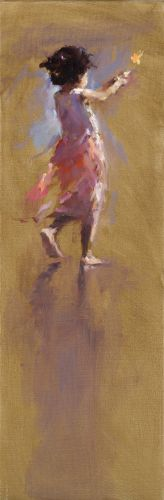 Danseuse II Plage Abouda, oil / canvas, 2016, 90 x 30 cm, Sold