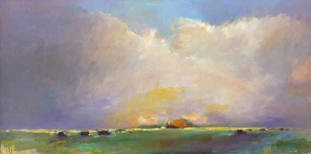Frisian landscape, oil / canvas, 2016, 70 x 140 cm, € 4.900,-