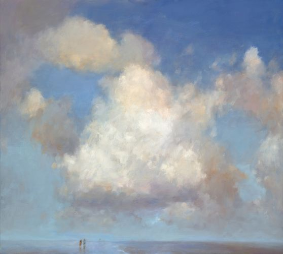 Frisian seashore, oil / canvas, 2016, 100 x 90 cm, € 5.250,-