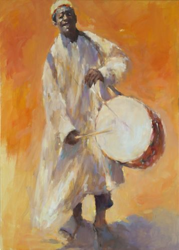Drummer, oil / canvas, 2016, 140 x 100 cm, € 6.500,-
