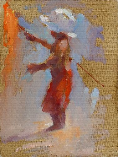 Flagbearer, oil / canvas, 2016, 18 x 24 cm, € 1.750,-