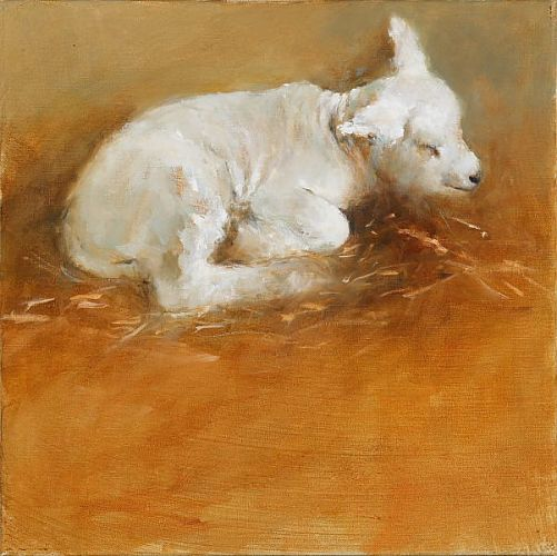 Little lamb, Oil / canvas, 2006, 40 x 40 cm, Sold
