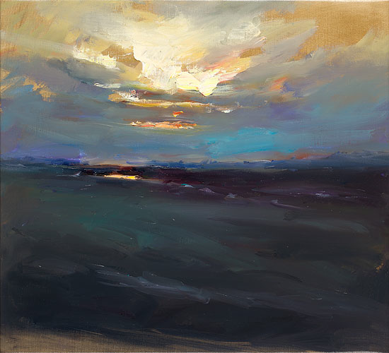 Thundersky, oil / canvas, 2018, 70 x 100 cm, Sold