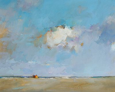 Beachmark 7, Oil / canvas, 2006, 24 x 30 cm, Sold