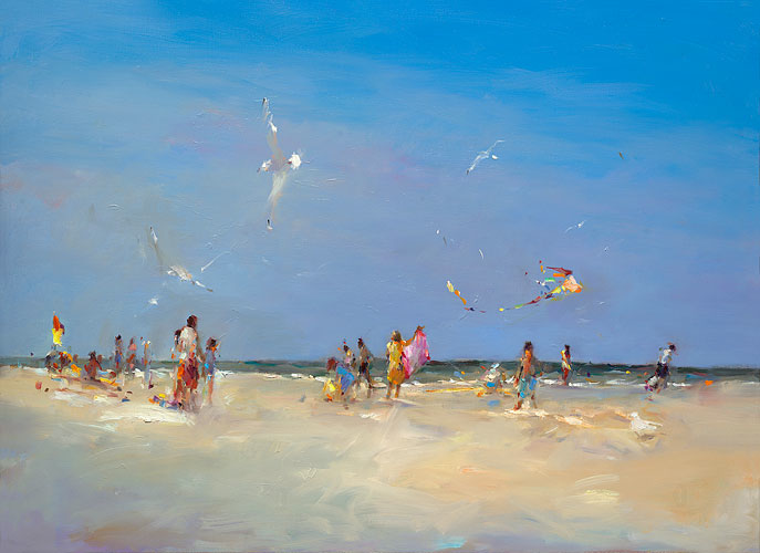 Beach Schiermonnikoog, oil on canvas, 2019, 80 x 110 cm, Sold