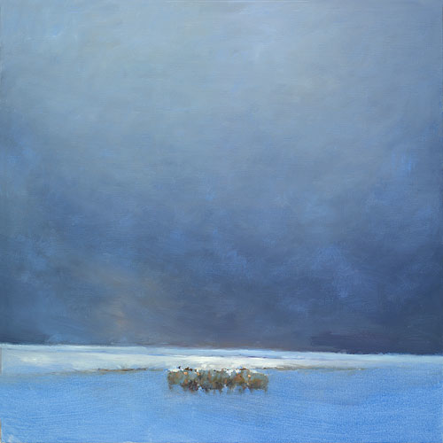 Sheep, oil on canvas, 2019, 120 x 120 cm, Option