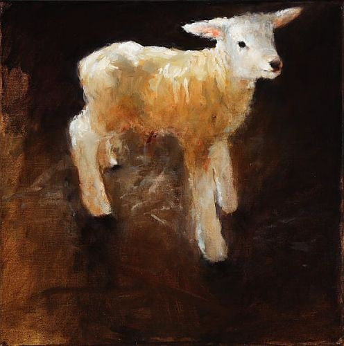 Lamb II, Oil / canvas, 2006, 40 x 40 cm, Sold