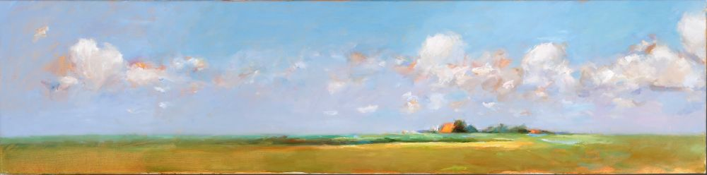 Spring, Oil / canvas, 2007, 30 x 120 cm, Sold