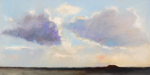 Clouds, Oil / canvas, 2007, 60 x 120 cm, Sold