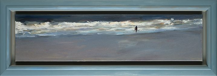 Beach, oil / canvas, 2018, 25 x 100 cm, € 3.250,-
