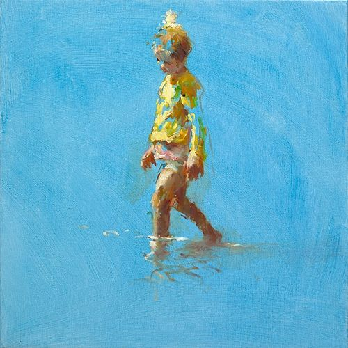 Young fisherman, oil / canvas, 2020, 60 x 60 cm, € 4.500,-