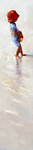 Water carrier, Oil / canvas, 2007, 70 x 16 cm, Sold