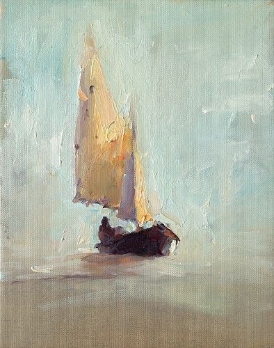Sailing, oil / canvas, 2020, 30 x 24 cm, Sold