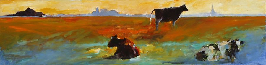 Wirdum-Swichum, Oil / canvas, 2007, 30 x 120 cm, Sold
