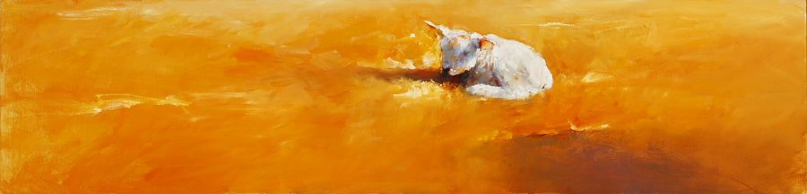 Lamb, Oil / canvas, 2007, 30 x 120 cm, Sold