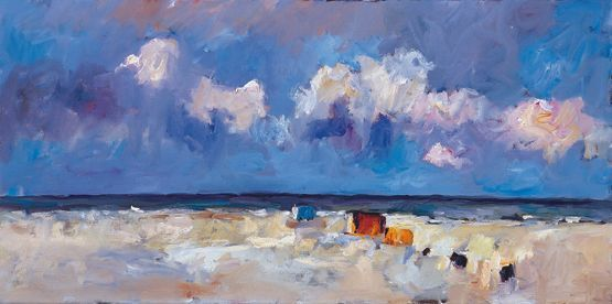 Beachmark 3, Oil / canvas, 1999, 45 x 100 cm cm, Sold