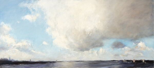 Cloud over Amsterdam, Oil / canvas, 2007, 80 x 180 cm, Sold