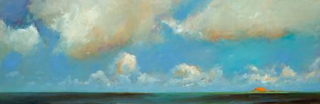 The dyke, Oil / canvas, 2007, 60 x 180 cm, Sold