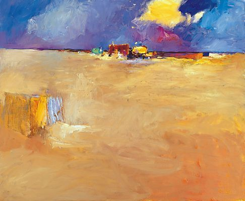 Beachmark 7, Oil / canvas, 1999, 100 x 120 cm cm, Sold