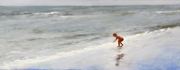 The child & the sea, Oil / canvas, 2007, 40 x 100 cm, Sold
