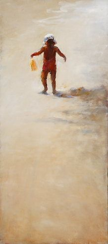 Water carrier IV, Oil / canvas, 2007, 40 x 100 cm, Sold