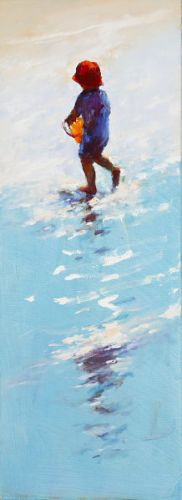 Water carrier III, Oil / canvas, 2007, 80 x 30 cm, Sold