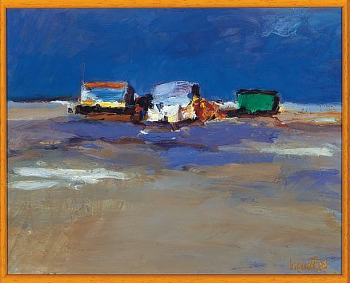 Beachmark 7, Oil / panel, 1998, 21 x 26 cm cm, Sold